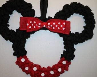 Minnie/Mickey mouse wreath