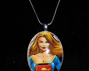 DC  Supergirl Large Pendant