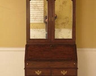 L28470E: BAKER George III Walnut Secretary Desk w. Bookcase Top
