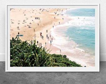 Bondi Shore, DIGITAL Download, Beach Photography, Summer, Bondi Beach, Wall Art, Home Decor, Travel, Nautical, Coastal Print, Fine Art