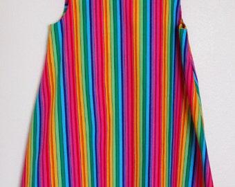 Stripey Rainbow Summer Dress