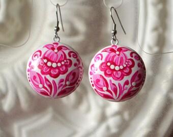 womens gift|for|her gift|for|women gifts ideas birthday gift wedding earrings white pink wedding pink jewelry pink earrings flower earrings