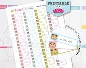 Guinea Pig Stickers, Printable Kawaii Sticker,Label Reminder, Planner Cute Pet Shop Sticker, Erin Condren, K039