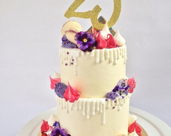 Number Cake Topper  l  Age Cake Topper  l  Wedding Table Numbers  l  Birthday Topper  l  Cake Topper  l  Custom Age Cake Topper