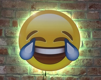 LOL Emoji Wall Art with Color Changing Lights