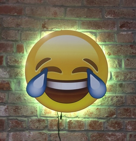Laughing Tears Emoji LED Color Change Lights