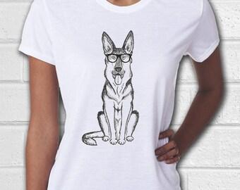 German Shepherd, Dog shirt, Womens tshirts, Animal shirt, Women Shirt, Ladies T Shirts, Dog mom, German Shepherd gift, Hipster Animal, K9