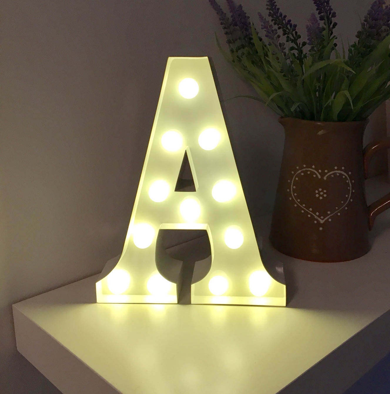 vintage metal fairground marquee light up letter a light various coloursbattery operated perfect night lightgiftbedroomwedding decor