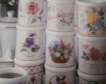 A Bouquet of Mugs, Leisure Arts, Pattern Leaflet #2135, 1991