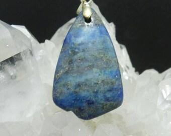 Blue Crazy Lace Agate Shield Pendant.