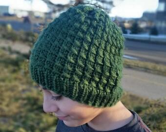 Boys knit touque, boys hat, knit hat, knit touque, boys touque, knit beanie, boys beanie, green, green beanie, green touque, boys accessorie