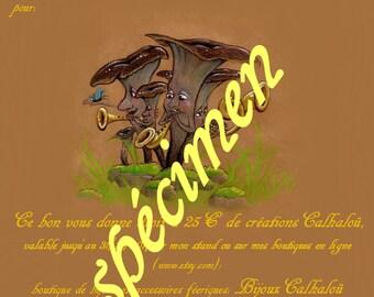 good gift Calhalou create 25 to 75 euros. (good