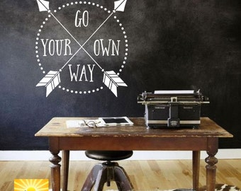 Go Your Own Way Vinyl Wall Art