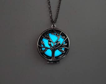 Glow In The Dark Tree of Life Necklace - Easter Gift - Best Friend Gift - Gifts For Her - Birthday Gift