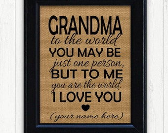 Gifts for grandma etsy framed grandmother gift unique gift idea grandma birthday gift grandmother birthday gift negle