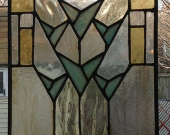 The Legend Prairie Style Stain Glass Window Decoration Panel