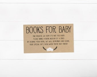 Bring a Book Insert, Stock the Library, Baby Shower, Stock Baby's Library (315)