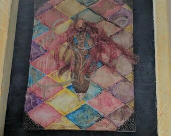 Angrboda and Audhumla Shadowbox Shrine