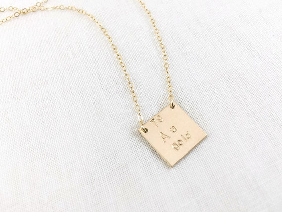 Gold element au periodic table necklace 14k gold filled like this item urtaz Gallery