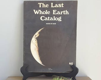 The Last Whole Earth Catalog August 1971, Very Good Condition, Vintage Counterculture Paperback Book, Portola Institute, Ecological handbook
