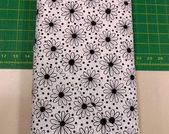 Thing A Majigs fabric. Black white floral flowers dots circles modern abstract quilters cotton quilting Blank Textiles 619096143197