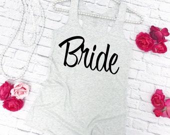 Bride Tank Top. Bridal Shirt. Wedding Tank Top. Bridal Tee. Bride Shirt. Bridal Shower Gift for Bride. Bachelorette Tank Top.