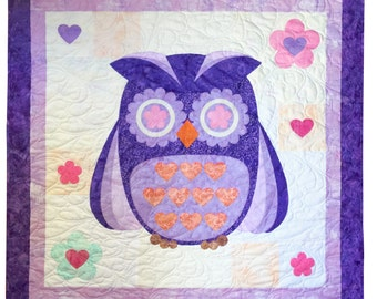 Owl Watch Over You Appliqué Quilt Pattern Kit, Owl Quilt Pattern