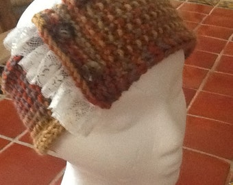Rust and brown headband