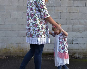 Mommy and me kimono, mom and daughter kimono, matching swim suit cover up, mom and baby matching kimono, floral kimonos, boho kimonos