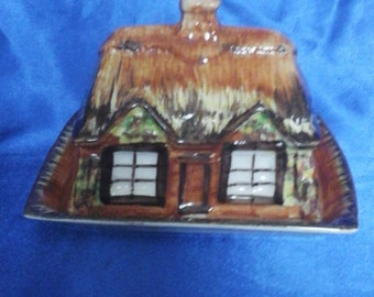 Price and Kensington Cottage Ware Hand Painted English Butter/Cheese Dish