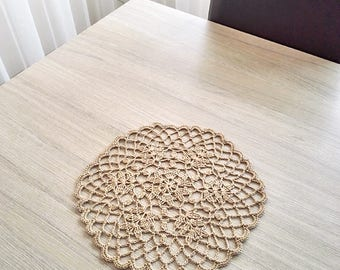 Lace crochet doily, linen doily, vintage lace doily, crochet round doily, crochet table centerpiece, doilies for furniture, knitted doilies