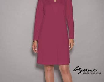 Red dress, womens dresses, loose dresses, designer dress, women dresses unique, party dress, V neck dress, winter dress, midi dress