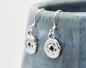 Donut Earrings, Silver Earrings, Donut Jewelry, Charm Earrings, Bridesmaid Gift, Gift for Her, Animal Earrings, Dangle Earrings, Antique
