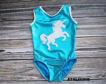 Gymnastics leotard, unicorn leotard for girls, training wear for kids, natation costume, dance, athlechik, birthday gift, party, girls, kids