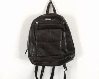 Dark Brown Leather Cabrelli 90s Backpack Hand Bag