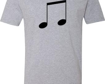 Men's Music 8th Note V-Neck Shirt MUSICNOTE-N3200