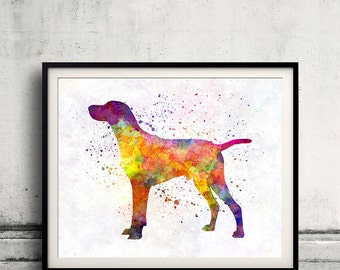 Hungarian Shorthaired Pointer 01 in watercolor - Fine Art Print Poster Decor Home Watercolor Illustration Dog - SKU 2295