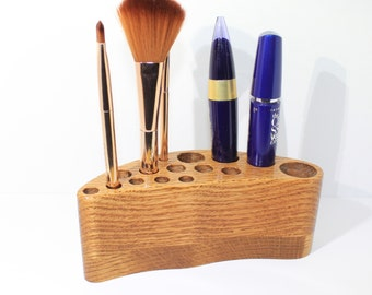 Pen Holder - Desk Organizer - Pen Stand - Wood Pen Holder - Desk Accessories - Office Decor - Display Stand - Makeup - Wooden Organizer