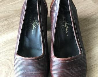 Brown Joan Hepburn heels