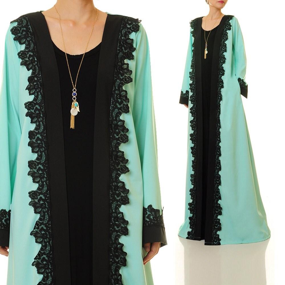 Long Sleeve Cardigan Abaya Kimono Cardigan Maxi Cardigan