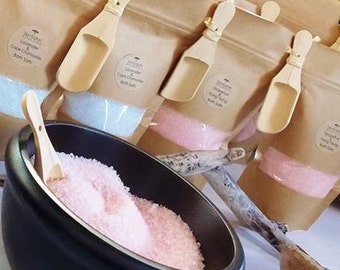 BATH SALTS Aromatherapy, Customized, Relaxing, Soothing, Calming, Anti-Stress, with Pure Essential Oils,