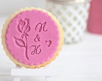 Rose - romantic - Fondant stamp - Cookie stamp for your wedding