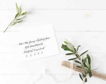 Envelope Calligraphy (Modern, Wedding Invitations, Handwritten, Shower, Party, Address)