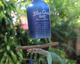 Blue Bottle Wind Chime, Kenny Chesney, Blue Chair, Rum Bottle, Pirate,