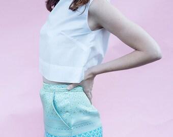 Digital sewing pattern | Lyra Top | Sleeveless crop top