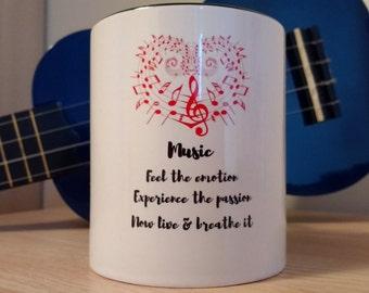 Music Mug | Music Lover | Unique Mug | Music Quote Gifts | Music Coffee Mug | Gifts For Musicians |Mugs |Coffee Mug