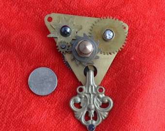 2-part Steampunk Brooch