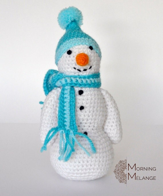 Amigurumi snowman crochet snowman toy snowman stuffed