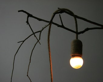 plug in pendant light with handmade rope cable and sand bulb nautical hanging lamp