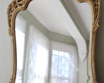 Vintage Ornate Large Framed Mirror Italian Rocco Style